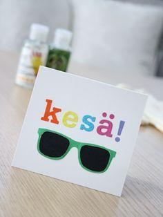 'Ray Ban' aurinkolasi-kortti / 'Ray Ban' sunglasses greeting card