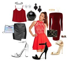 """""""Going red"""" by jessfb on Polyvore featuring moda, Missguided, Via Spiga, Steve Madden, Wild Diva, Chicwish, Chloe + Isabel, Tasha, Jules Smith y Giani Bernini"""