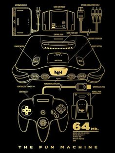 64 Bit T-Shirt $12 Nintendo tee at Once Upon a Tee!
