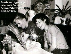 Bowie and Iggy celebrate Coco's birthday, Berlin 1976