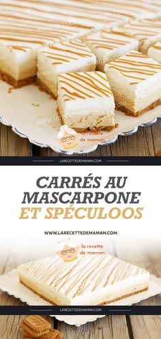 Mascarpone and Speculoos Squares – Mom's Recipe You are in the right place about individual Desserts Here we offer you Desserts For A Crowd, Mini Desserts, Easy Desserts, Dessert Recipes, Potluck Recipes, Plated Desserts, Delicious Cake Recipes, Yummy Cakes, Gourmet Recipes
