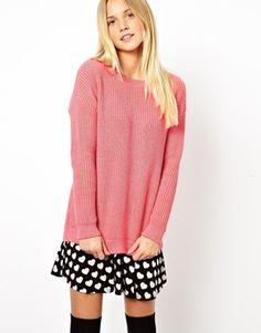 ASOS Pink chunky jumper