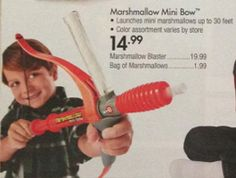 Love getting all the catalogs in the mail for the holidays but look what I found in the Bed Bath & Beyond 2014 December Gift Book! Marshmallow Shooter Mini Bow & Mallow!! #marshmallowshooter #giftideas