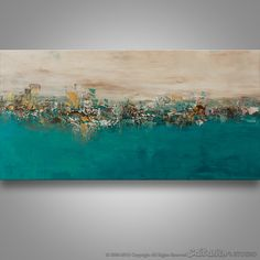 Abstract Wall Art Abstract Landscape Abstract Painting by Catalin Abstract Painting Techniques, Seascape Paintings, Texture Painting, Large Painting, Abstract Wall Art, Abstract Landscape, Painting Abstract, Art Pariétal, Painting Templates