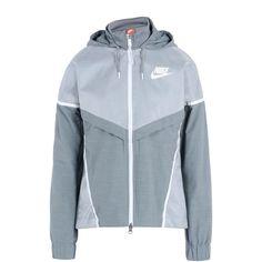 Nike Jacket ($180) ❤ liked on Polyvore featuring outerwear, jackets, grey, long sleeve jacket, zip jacket, long sleeve turtleneck, gray turtleneck and nike