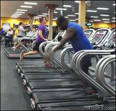 How to use a treadmill. Like a boss. [gif]