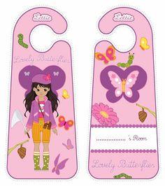 Butterfly Protector Lottie doll door hangers for kids #free #printables Download at www.lottie.com/create/
