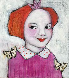 Monica Blom Art: Princess liten akryl
