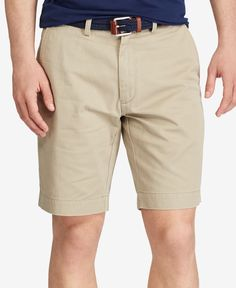 """Polo Ralph Lauren Men's 9.5"""" Classic-Fit Flat-Front Chino Shorts"""