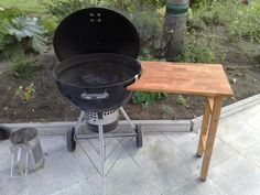 Picnic Table Bench, Grill Table, Barbecue Grill, Grilling, Weber Bbq, Weber Grills, Outdoor Grill Station, Kitchen Grill, Bbq Area