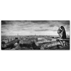 Trademark Fine Art Boring in Paris Canvas Art by Moises Levy, Size: 20 x 47, White
