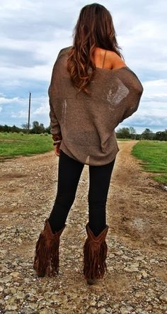 Oversized Off Shoulder Cardigan With Tights