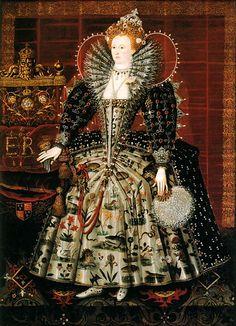 Queen Elizabeth I, 1592.  Circle of Nicholas Hilliard.  Hardwick House.