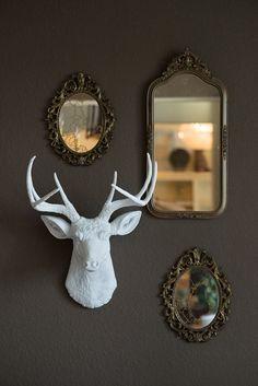 Porcelain Rams Head Williams Sonoma Home Ceramic Animal Heads