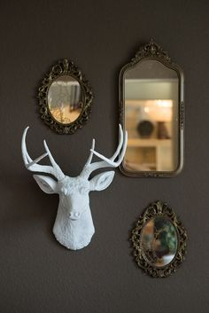 Hey, I found this really awesome Etsy listing at https://www.etsy.com/listing/185080687/white-faux-deer-head-shop-special