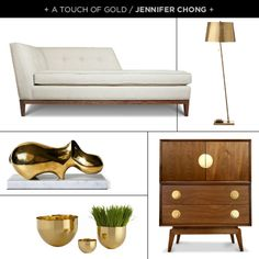 A Touch of Gold / Jennifer Chong {create your very own style boards with this new site, click the image to learn more}