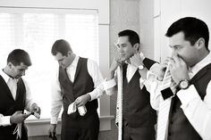 style me pretty - real wedding - usa - california - san diego wedding - ntc promenade at liberty station - groomsmen - getting ready