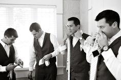 style me pretty - real wedding - usa - california - san diego wedding - ntc promenade at liberty station - groomsmen - getting ready