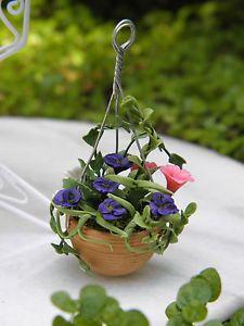 Miniature Fairy Garden Accessories   Miniature Dollhouse Fairy Garden Accessories Hanging Flower Pot New ...