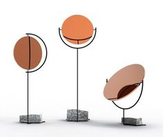 Gorgeous!  Copper Mirror Series by Amy Hunting and Oscar Narud, two Norwegian designers based in London. The mirrors are floorstanding and made from a material mix of copper, steel, and granite.