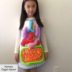 OFF Anatomy Apron - Fun way to teach anatomy and help introduce kids to what's inside a human body. Teach kids about - Creative Activities For Kids, Science Projects For Kids, Toddler Learning Activities, Video Games For Kids, School Projects, Teaching Kids, Diy For Kids, Kids Learning, Crafts For Kids