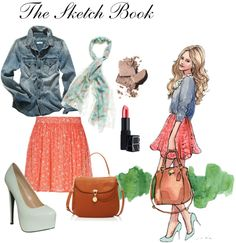 """""""The Sketch Book"""" by laynelazor ❤ liked on Polyvore"""