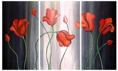 Cuadros Modernos,dipticos, Tripticos,florales,abstractos - en MercadoLibre Acrylic Canvas, Wall Canvas, Canvas Art, Multiple Canvas Paintings, Easy Paintings, Dinning Room Art, Altered Canvas, Magnolias, Print Pictures