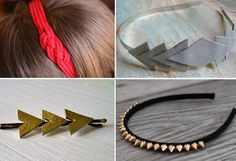 Homemade Headbands, Hair Pins, and More http://wet.pt/YxcRW9