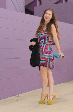 Megan of TF Diaries looking stunning in the LT Zigzag Chiffon Dress #dress #prints #summer