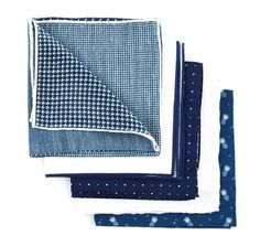 Summer Navy Pack Pocket Squares - Navy   Ties, Bow Ties, and Pocket Squares   The Tie Bar