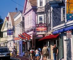 I haven't been to Provincetown in many years, but I could walk this street and visit these shops and restaurants every year and never tire of it.   My Grandmother was born and grew up in Provincetown, right at the very tip of Cape Cod in MA .... the men in her family were all fishermen, and many died at sea.  Somewhere there in Provincetown, I think I still have extended family .... children of her cousins, I believe.  Sadly, that connection has been lost.