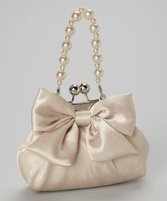 Champagne Bow Shoulder Bag | zulily