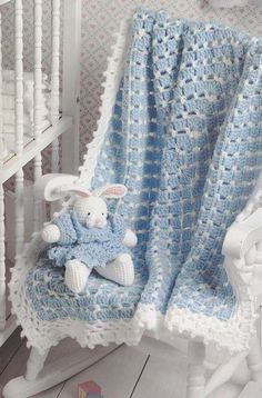 Crochet Pattern Booklet Blankets and Buddies by Beth Ann Webber Leisure Arts 2610 baby afghan doll bear bunny rabbit patterns Baby Afghan Crochet, Baby Afghans, Baby Boy Blankets, Afghan Crochet Patterns, Baby Patterns, Kids Blankets, Love Crochet, Crochet For Kids, Simple Crochet