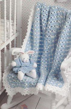 Crochet Pattern Booklet Blankets and Buddies by Beth Ann Webber Leisure Arts 2610 baby afghan doll bear bunny rabbit patterns Baby Afghan Crochet, Crochet Bebe, Baby Afghans, Afghan Crochet Patterns, Love Crochet, Crochet For Kids, Baby Patterns, Easy Crochet, Baby Boy Blankets