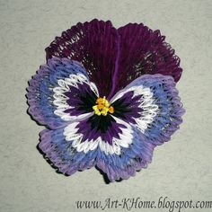 Art-KHome - the art of quilling: Pansies (workshop)