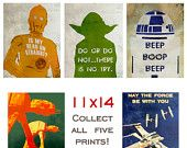 Star Wars Poster Collection - SUPER SAVINGS - 11x14  - Free Shipping