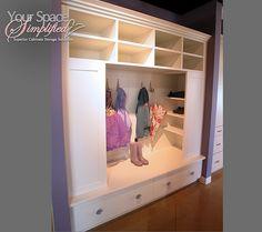 Hallway storage - love this!