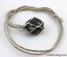 Labradorite Hemp Wrapped Healing Crystal Necklace www.etsy.com/listing/165089730/