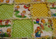 Baby Rag Quilt Childs Rag Quilt Lap Throw by MyCupRunnethOver14