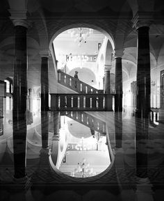 Surreal Double Exposure Analog Photography by Jeremie Dru #inspiration #photography