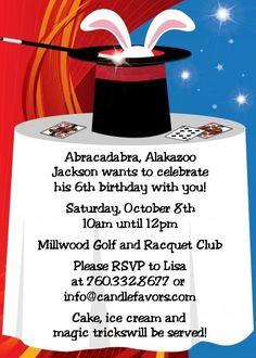 Magic - Birthday Party Invitations