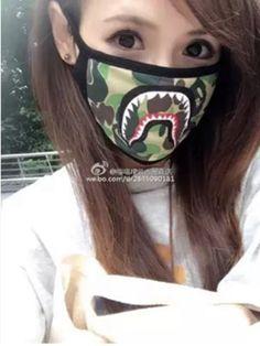 5cd4a3f9389 Bathing Ape Bape Shark Black Face Mask Camouflage Mouth-muffle BAPE Mask   fashion
