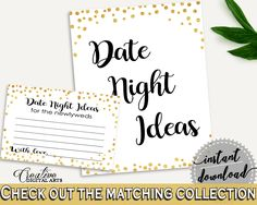 Date Night Ideas Bridal Shower Date Night Ideas Confetti Bridal Shower Date Night Ideas Bridal Shower Confetti Date Night Ideas Gold CZXE5 #bridalshower #bride-to-be #bridetobe