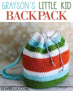 CROCHET STUFF TOYS This backpack made for little kids is great for preschool and the early elementary school years. They can also use it to tote around toys with them while mom runs errands! Crochet Toys Patterns, Stuffed Toys Patterns, Crochet Designs, Knitting Patterns, Baby Patterns, Crochet For Kids, Free Crochet, Irish Crochet, Crochet Backpack