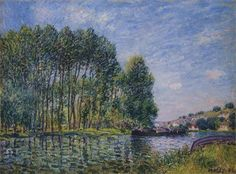 Spring on the Loing River - Alfred Sisley