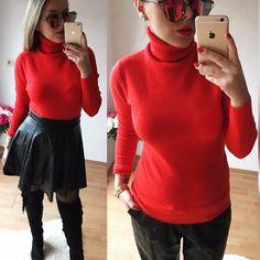 teplúčky výrazný červený rolák  mäkkučký a príjemný na dotyk veľkosť UNI ( material je elastický ) v akciovej cene 1490 -objednaj v directe na FB- Alebo priamo objednaj na www.tvojstyl.fashion