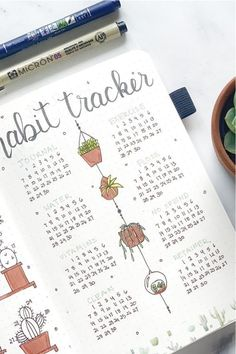 Check out these cactus and succulent themed bullet journal monthly covers, habit trackers and weekly spreads for inspiration to start a new theme in your own bujo! March Bullet Journal, Creating A Bullet Journal, Bullet Journal Tracker, Bullet Journal Notebook, Bullet Journal Aesthetic, Bullet Journal Layout, Bullet Journal Ideas Pages, Bullet Journal Inspiration, Bullet Journal Yearly Calendar