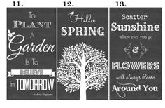 Spring & Easter Chalkboard Style Typography Prints | Jane