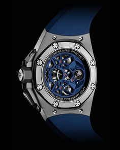 Skeleton Watches, Royal Oak, Audemars Piguet, Black Rubber, Smart Watch, Blue, Concept, Fresh, Accessories