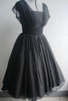 Grey fifties dress style